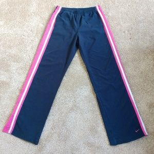 Nike Women's Blue and Pink Soft Track Pants